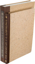 Books:Biography & Memoir, T.E. Lawrence. The Diary of T.E. Lawrence. MCMXI. London:Corvinus Press, 1937. ...