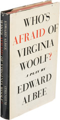 Books:Literature 1900-up, Edward Albee. Who's Afraid of Virginia Woolf? New York:Atheneum, 1962. First edition. Presentation copy, inscribe...