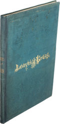 Books:Literature Pre-1900, [Walt Whitman]. Leaves of Grass. Brooklyn New York: 1855....