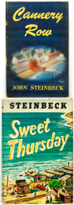 Books:Literature 1900-up, John Steinbeck. Pair of First Editions, including: CanneryRow [and:] Sweet Thursday. New York: The Viki... (Total:2 Items)