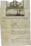 Autographs:U.S. Presidents, James Madison Signed Scallop Top Ship's Passport.... (Total: 3 )