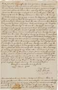 Autographs:Statesmen, Benjamin Rush Twice Signed Manuscript Legal Decision. ...