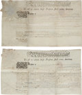 Autographs:Statesmen, Thomas Mifflin Signed Land Grants (2) Engrossed to DeclarationSigner Robert Morris.... (Total: 2 )