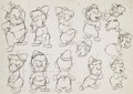 animation art:Model Sheet, Leprechauns Gold and Others - Model Sheet Group of 3 (Famous Studios, 1949).... (Total: 3 Original Art)