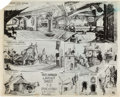 animation art:Model Sheet, Pinocchio Studio Model Sheets Group of 3 (Walt Disney,1940).... (Total: 3 Original Art)
