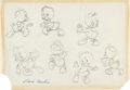 Original Comic Art:Miscellaneous, Carl Barks - Huey, Dewey, and Louie Preliminary Artwork OriginalArt (undated)....