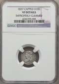 Bust Half Dimes, 1837 H10C Large 5C -- Improperly Cleaned -- NGC Details. VF. NGCCensus: (2/169). PCGS Population (6/217). Mintage: 871,000...