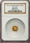 California Fractional Gold: , 1876/5 50C Indian Round 50 Cents, BG-1059, R.4, MS62 Prooflike NGC.NGC Census: (4/12). ...