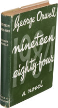 "Books:Literature 1900-up, George Orwell. Nineteen Eighty-Four. London: Secker &Warburg, 1949. First edition (""First published 1949"" on the co..."