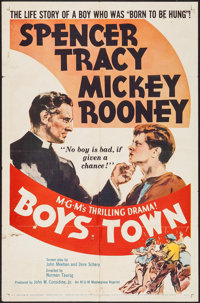"Boys Town & Other Lot (MGM, R-1957). One Sheets (2) (27"" X 41""). Drama. ... (Total: 2 Items)"