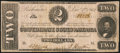 Confederate Notes:1862 Issues, T54 $2 1862 PF-14.. ...