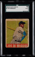 Baseball Cards:Singles (1940-1949), 1948 Leaf Joe DiMaggio #1 SGC 10 Poor 1....