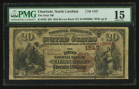 Charlotte, NC - $20 1882 Brown Back Fr. 496 The First NB Ch. # (S)1547