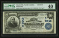 National Bank Notes:North Carolina, Cherryville, NC - $10 1902 Plain Back Fr. 626 The First NB Ch. # (S)9548. ...