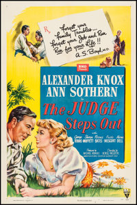 """The Judge Steps Out (RKO, 1949). One Sheet (27"""" X 41""""). Comedy"""
