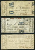 Obsoletes By State:Louisiana, Shreveport, LA- State of Louisiana 50¢ (3) Mar. 1, 1864 Cr. 21I; Cr. 21D2; Cr. 21B/B1. ... (Total: 3 notes)