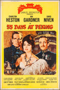 "Movie Posters:Adventure, 55 Days at Peking (Allied Artists, 1963). Poster (40"" X 60"") Style Y. Adventure.. ..."