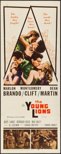"Movie Posters:War, The Young Lions (20th Century Fox, 1958). Insert (14"" X 36""). War....."