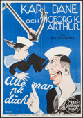 """Movie Posters:Comedy, All at Sea (MGM, 1929). Swedish One Sheet (27.75"""" X 39.5""""). Comedy.. ..."""