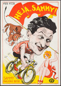 "Movie Posters:Comedy, Homesick (Fox, 1928). Swedish One Sheet (28"" X 39.5""). Comedy.. ..."