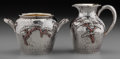 Silver & Vertu:Hollowware, A Whiting Mfg. Co. Japanesque Silver and Mixed Metals Sugar and Creamer, New York, New York, circa 1880. Marks: (W-griffin),... (Total: 2 )