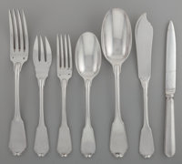 A Thirty-Two Piece Tetard Freres Silver Partial Flatware Service, Paris, France, circa 1910 Marks: (Minerva's head