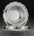 Silver Holloware, American:Bowls, Two Tiffany & Co. Silver Center Bowls, New York, New York,circa 1943-1945. Marks: TIFFANY & CO, MAKERS, STERLINGSILVER, ... (Total: 2 )