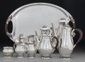Silver & Vertu:Hollowware, A Six Piece Codan Mexican Silver Tea and Coffee Service with Grape Motif, Mexico City, Mexico, circa 1950. Marks: CODAN, S... (Total: 6 Items)