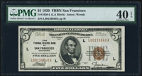 Fr. 1850-L $5 1929 Federal Reserve Bank Note. PMG Extremely Fine 40 EPQ