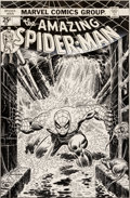 Original Comic Art:Covers, Gil Kane and John Romita Sr. Amazing Spider-Man #151 CoverOriginal Art (Marvel, 1975)....