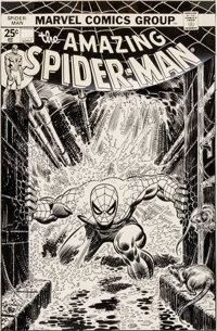Gil Kane and John Romita Sr. Amazing Spider-Man #151 Cover Original Art (Marvel, 1975)
