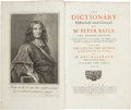 Books:Reference & Bibliography, [Dictionary]. Peter Bayle. The Dictionary, Historical andCritical of Mr. Peter Bayle. The Second Edition, Careful...(Total: 5 Items)