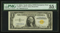 Small Size:World War II Emergency Notes, Fr. 2306* $1 1935A North Africa Silver Certificate. PMG About Uncirculated 55 EPQ.. ...