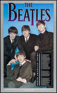 """The Beatles: North American Tours (ArtRock Gallery, 1990). Commercial Posters (3) (16.75"""" X 27.25""""). Rock and..."""