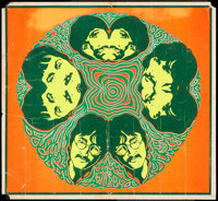 """The Beatles (A Sirka, 1967). Psychedelic Poster (21"""" X 23""""). Rock and Roll"""