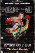"Movie Posters:Sports, Holmes vs. Ali: The Last Hurrah (Don King, 1980). Poster (24"" X 35.75""). Sports.. ..."