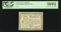 North Carolina May 10, 1780 $100 Fortis Cadere Cedere Non Potest PCGS Choice About New 58PPQ