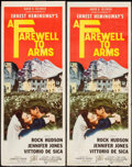 "Movie Posters:War, A Farewell to Arms (20th Century Fox, 1958). Inserts (2) (14"" X 36""). War.. ... (Total: 2 Items)"