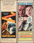 """Movie Posters:Thriller, The Naked Edge & Other Lot (United Artists, 1961). Inserts (2) (14"""" X 36""""). Thriller.. ... (Total: 2 Items)"""