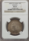 Colombia, Colombia: Republic 50 Centavos 1898 MS65 NGC,...