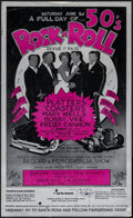 "Movie Posters:Rock and Roll, 50's Rock 'n' Roll Revue (Lone Pine Productions, 1979). AutographedWindow Card (13.75"" X 22.5""), Event Window Cards (3) (14... (Total:7 Items)"