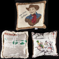 """Movie Posters:Western, Roy Rogers & Other Lot (1970s - 2000s). Limited Edition Pillow (16"""" X 16""""), Pillows (2) (14"""" X 14"""" & 15"""" X 15"""") and Fleece T... (Total: 4 Items)"""