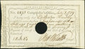 Colonial Notes:Connecticut, Oliver Wolcott, Jr Signed State of Connecticut Interest CertificateJuly 8, 1789 Very Fine, POC.. ...