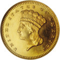 Proof Gold Dollars: , 1858 G$1 PR66 Cameo NGC. The 1858 is a very rare gold dollar in proof format. While 1858 marked the beginning of the modern...
