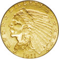Indian Quarter Eagles: , 1911-D $2 1/2 MS62 PCGS. This issue is the single key date among Indian quarter eagles, and it is always in demand. In fact...