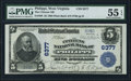 National Bank Notes:West Virginia, Philippi, WV - $5 1902 Plain Back Fr. 598 The Citizens NB Ch. # 6377. ...