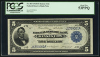 Fr. 803 $5 1918 Federal Reserve Bank Note PCGS About New 53PPQ