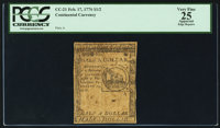 Continental Currency February 17, 1776 $1/2 PCGS Apparent Very Fine 25