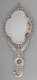 Silver Holloware, British:Holloware, A Daniel and John Welby Victorian Silver Mirror, London, England,circa 1889. Marks: (lion passant), (leopard's head), (duty...