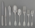 Silver & Vertu:Flatware, A Sixty-Four Piece Tetard Freres Silver Flatware Service for Eight, Paris France, circa 1910. Marks: T FRES, (Minerva's ... (Total: 64 )